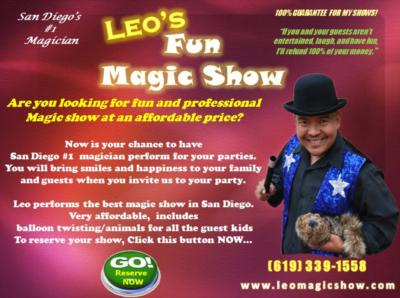 Leo's Fun Magic Show | Chula Vista, CA | Magician | Photo #14