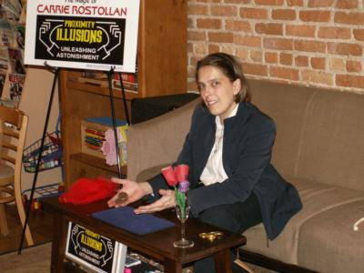 The Magic of Carrie Rostollan: Proximity Illusions | Auburn, MI | Magician | Photo #2