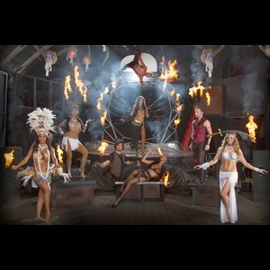Orange Fire Dancer | The Dancing Fire - Entertainment & Dance Company