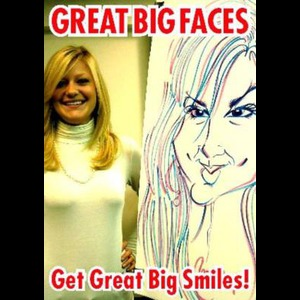 Greenville Silhouette Artist | Paul Merklein draws Great Big Faces