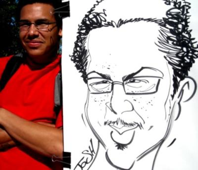 Paul Merklein draws Great Big Faces! | Washington, DC | Caricaturist | Photo #5