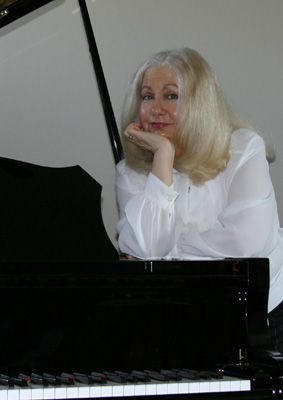 Phyllis Lynch at her Piano