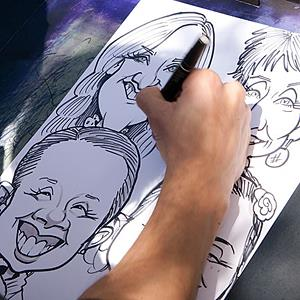 Bismarck Caricaturist | Exaggerated Entertainment
