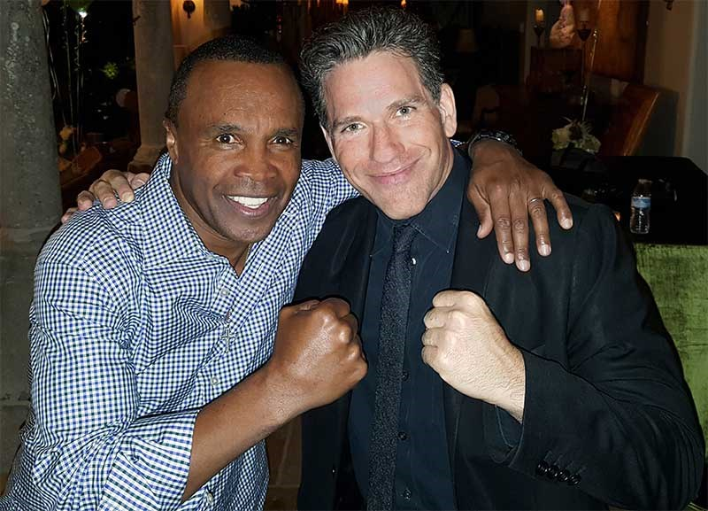 Zach Waldman and Sugar Ray Leonard