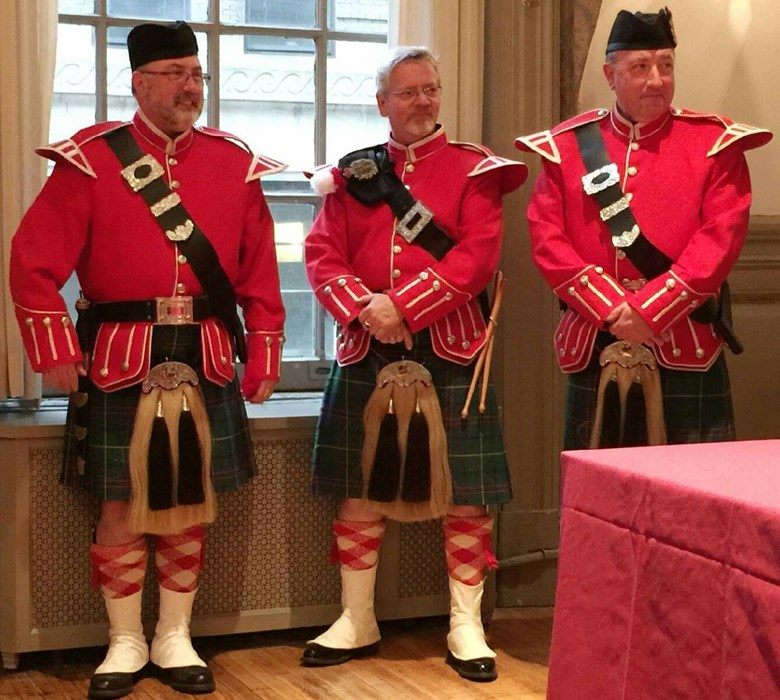 St Andrew's Society pipers
