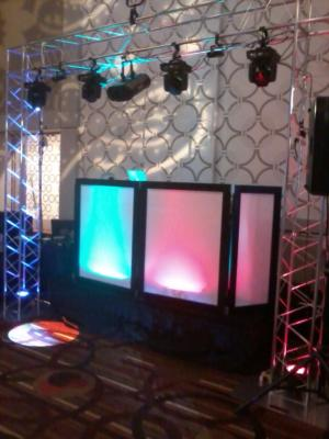 dj booth and lighting truss small