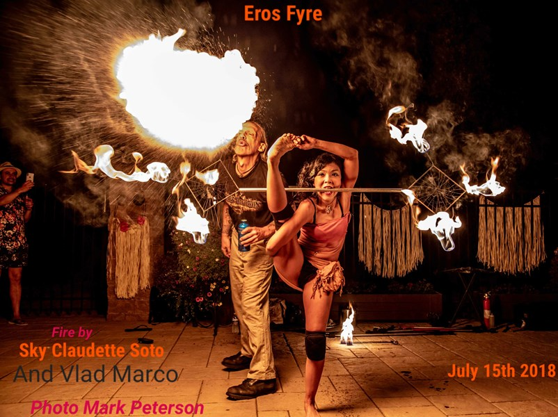 Sky & Vlad-Eros Fyre - Fire Dancer - New York City, NY