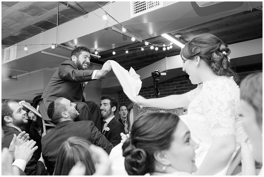 Jewish wedding celebration