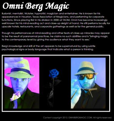 Omni Berg | San Antonio, TX | Magician | Photo #6