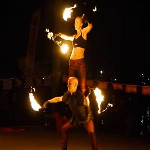 Bailey Island Fire Dancer | Cirque de Light