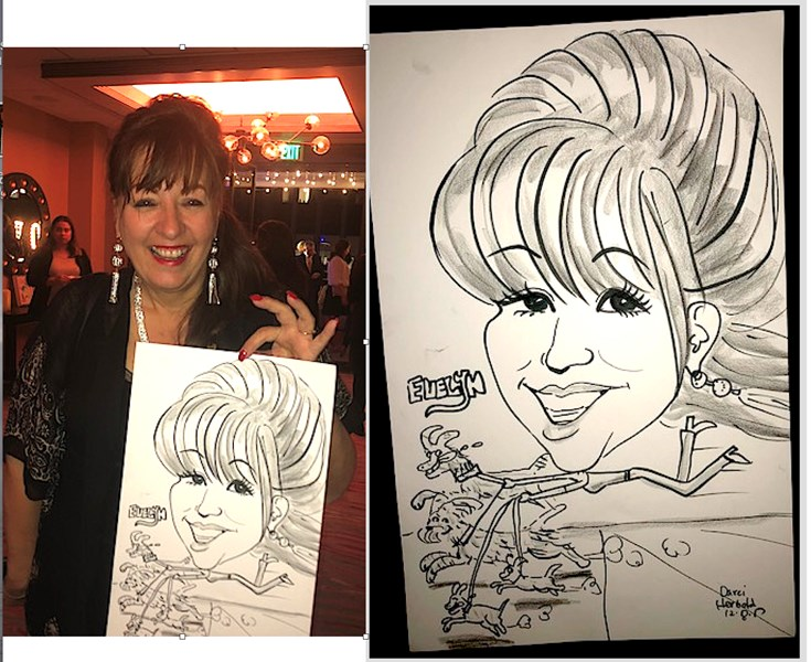 Caricatures by Darci Herbold
