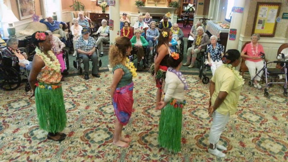 Retirement Facility Luau Event