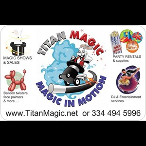 Pleasant Grove Puppeteer | Titan Magic Shows & Sales: Variety Entertainment