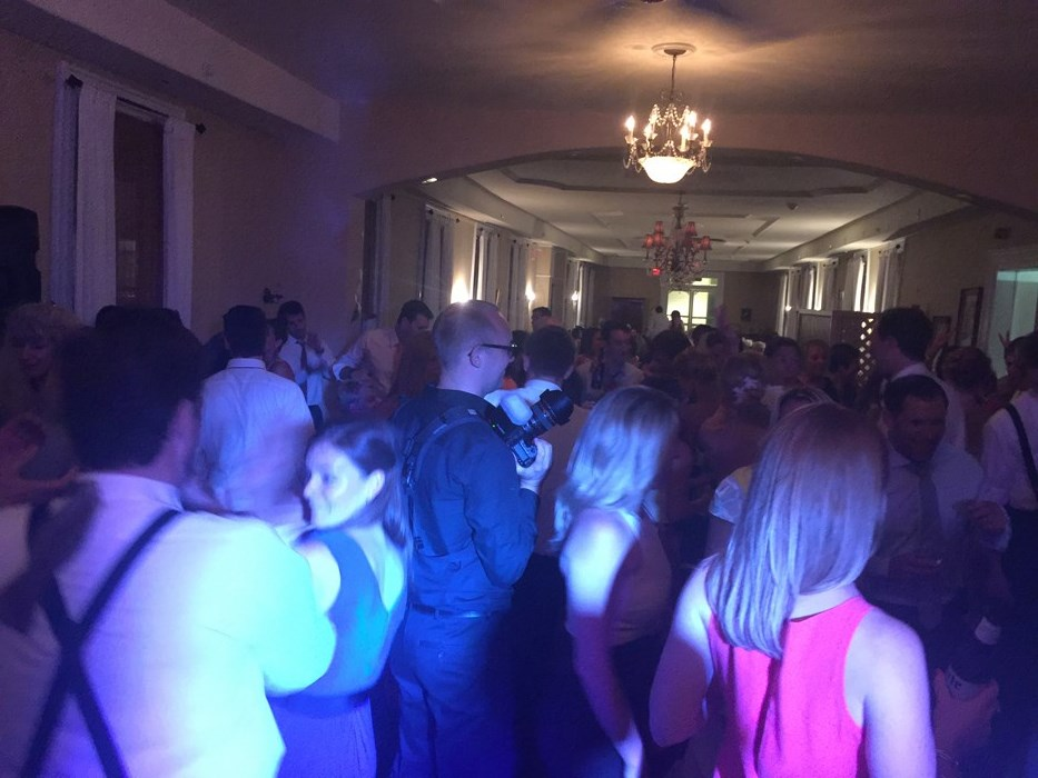 Packed dance floor in Cape May, NJ