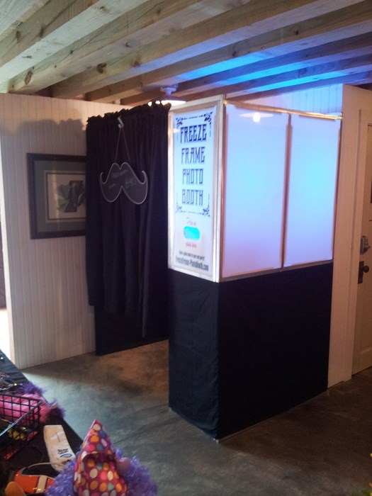 Our enclosed booth (4-6 guests)