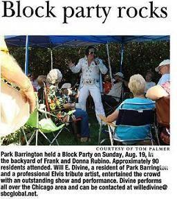 * Will E. Vee * | Barrington, IL | Elvis Impersonator | Photo #6